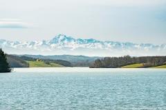 Barrage de la Gimone et Pyrénées